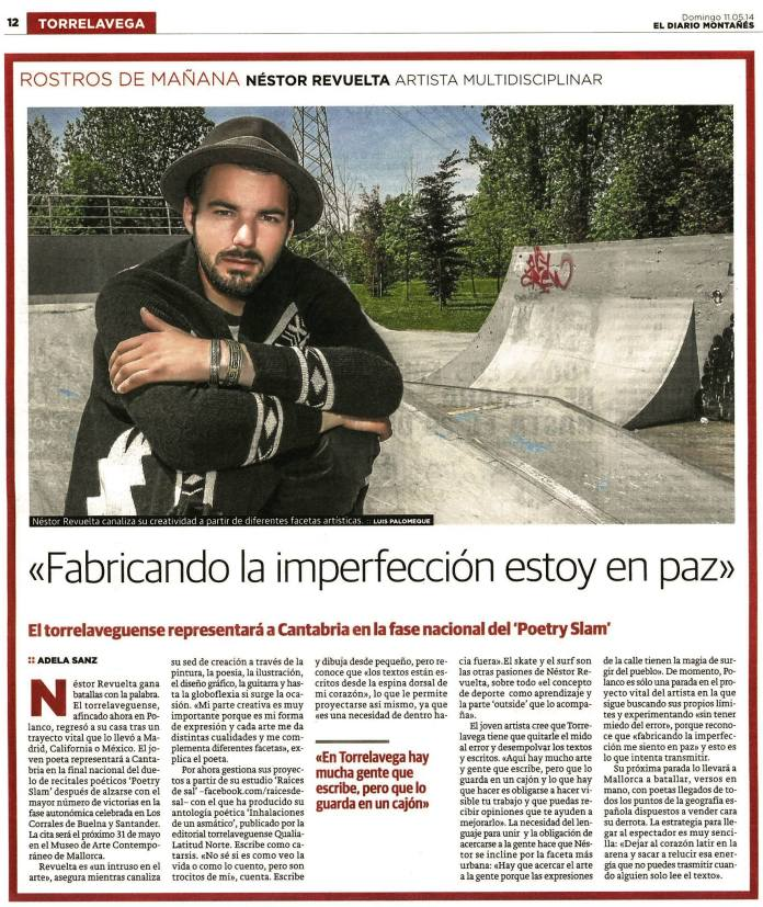 """Newspaper """"El Diario Montañés""""."""